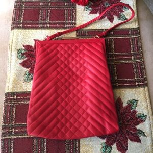 NWOT CYNTHIA ROWLEY RED LEATHER QUILTED PURSE